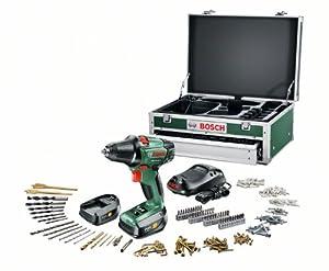 Bosch PSR 14,4 LI2 HomeSeries AkkuBohrschrauber + 241 tlg. ZubehörSet + Toolbox + 2 Akkus und 1Std.Ladegerät (14,4 V, max. 40 Nm)  BaumarktBewertungen
