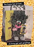 Get well card - Violent Veg - The Thyme has come to bring get well greetings
