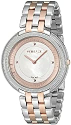 Versace Womens Thea Two-Tone Bracelet Watch