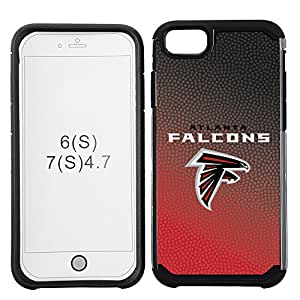 GameWear Gradient Line Design Cell Phone Case for Apple iPhone 7, NFL Atlanta Falcons