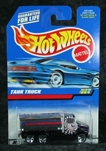 Mattel Hot Wheels 1998 1:64 Scale Black Tank truck Die Cast Car Collector #864 - 1
