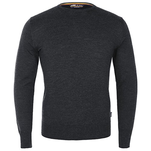 K-Way Maglione uomo K-Way SEBASTIEN MERINO GREY CHARCOAL MEL