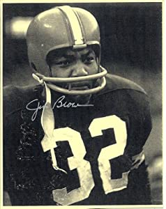 Jim Brown Cleveland Browns Sepia Autographed Signed 8 X 10 Vintage Print - (Near Mint... by Nostalgic Cards & Autographs