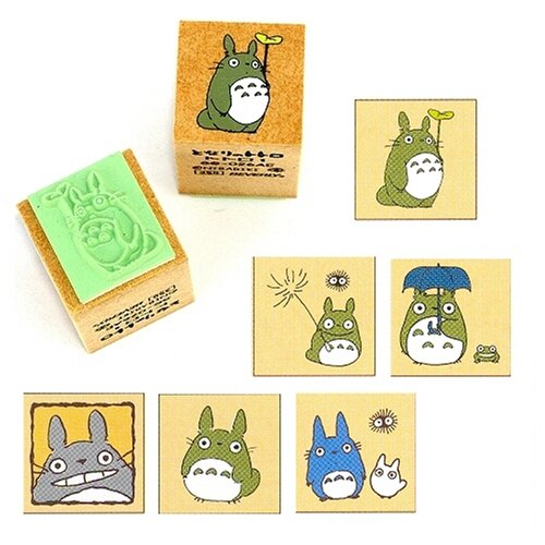 6 Styles My Neighbor Totoro Design Rubber Stamps Set