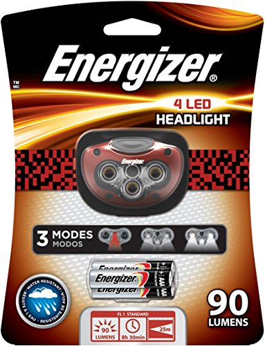 Energizer 4 Led Headlight, Black/Grey/Red, 3Aaa front-473875