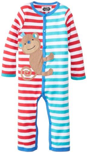 Mud Pie Baby-Boys Newborn Monkey One Piece, Multi, 6-9 Months front-1055862