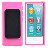 Accessotech TPU Clip Gel Case for New Apple iPod Nano 7th Generation Belt Clip Cover Shell Pink