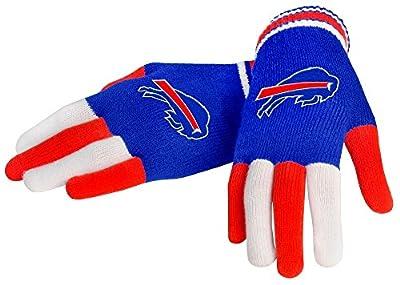 NFL Buffalo Bills Knit Gloves, Blue, One Size