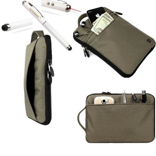 Slate Vangoddy Maylong Accessories Stylish Hydei Padded Carrying Case Maylong M 250 Protective Cover + 3 In 1 Capacitive Tipped Stylus (Led Flashlight And Laser Pointer) **Batteries Included**