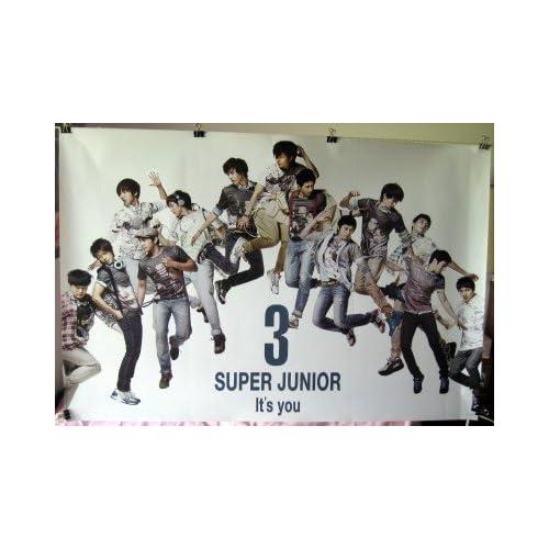 Super Junior 3 Its You POSTER 34 x 23.5 horizontal SuJu Superjunior Korean boy band Asian pop members jumping