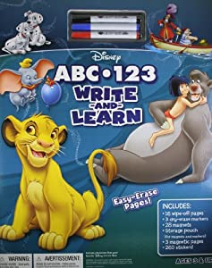 disney 123 abc write and learn book mickey