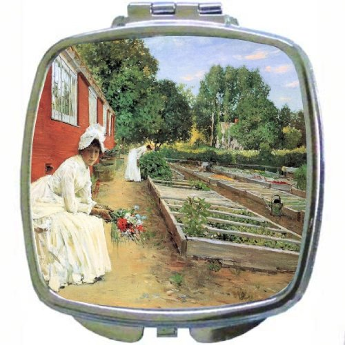 Rikki Knighttm William Meritt Chase Art The Nursery Design Compact Mirror front-621129