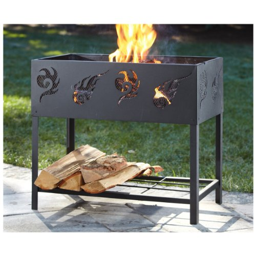 Castlecreek BBQ Firepit With Log Rack