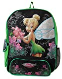 Disney Tinkerbell School Backpack Black Green