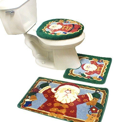 Santa Christmas Bath Mat Contour set