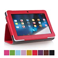 """Crazycity Slim 7 inch tablet Folio PU leather Protective Case with Stand for 7"""" Afunta Q88, AGPtek, Alldaymall Q88, Axis, Chromo, Dragon Touch A13 Q88,Y88, FastTouch, Fortress, Kocaso M752WH/M752SL/M752WH/M752BL 7-Inch 4 GB Tablet, Kocaso M752 7"""" Android"""