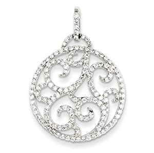 IceCarats Designer Jewelry 14K Wg Fancy Diamond Pendant