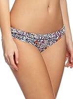 Piha Braguita Bikini Volantes Flores (Marino)