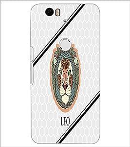 PrintDhaba Zodiac Leo D-4793 Back Case Cover for HUAWEI NEXUS 6P (Multi-Coloured)