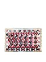 Tapis a Porter Alfombra Doubleface Sultan Rojo/Marfil/Multicolor 120 x 180 cm