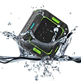 APIE Outdoor Bluetooth Speakers Portable Wireless Speakers (IP65 Water Resistant / Dustproof, 10 Hours Play Time, Built in Microphone)