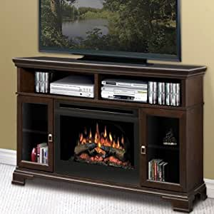 Dimplex Windham Mocha Electric Fireplace Media Console Dx234 2 Home Kitchen