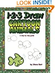 1-2-3 Draw Cartoon Animals