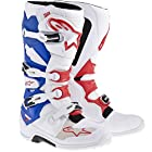 Alpinestars Adult MX Tech 7 Motocross Boots Patriot Red White Blue Size 10