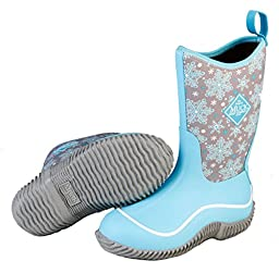 Muck Boots Kid\'s Hale Boot, Blue Snowflake, 7 M US Big Kid