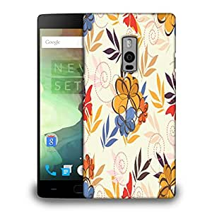 Snoogg Colorful Flowers Printed Protective Phone Back Case Cover Fpr OnePlus One / 1+1