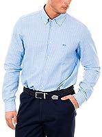 McGregor Camisa Hombre Lenny Altonio B Bd Cf Ls (Cielo / Blanco)