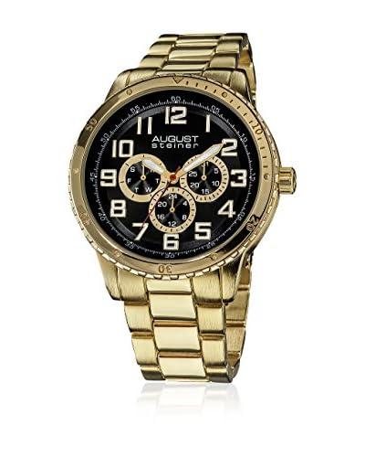 August Steiner Watch Men'S Quartz Multifunction Elegant Bracelet Watch Oro