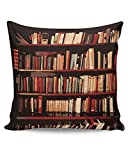 PosterGuy Bookshelves Geeky,Nerdy,Book,Booklovers,Gift For Book Lovers,Bookshelves Cushion Cover