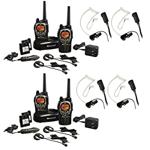 Midland GXT1000VP4 36-Mile 50-Channel FRS GMRS Two-Way Radio 2-Pair Bundle with... by Midland