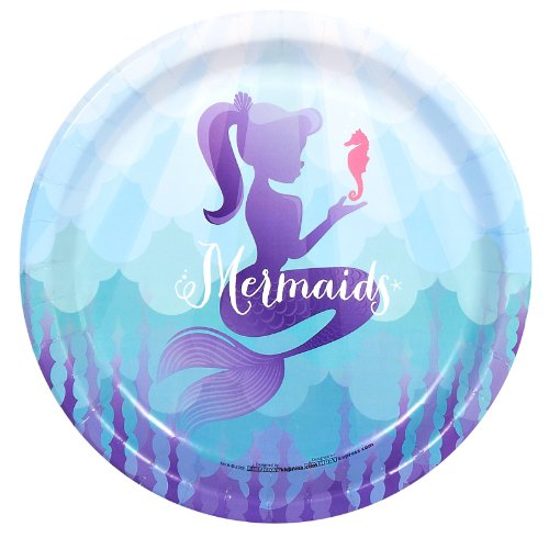 Mermaids Under the Sea Party Supplies - Dinner Plates (8)