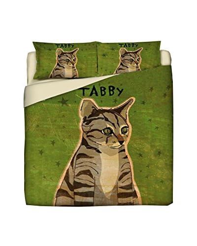 LITTLE FRIENDS by MANIFATTURE COTONIERE Juego De Funda Nórdica Tabby Cat