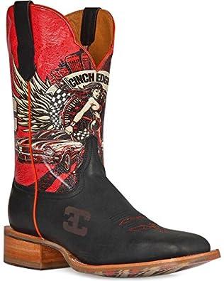 Cinch Men's Edge Race Ready Cowboy Boot Square Toe Brown US