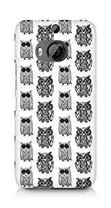 AMEZ designer printed 3d premium high quality back case cover for HTC One M9+ (black and white owl)