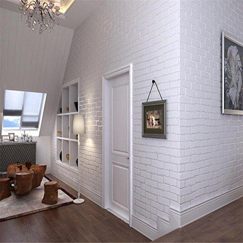 CLOERE-Serie-en-3D-blanco-ladrillo-decoraciones-de-papel-tapiz-y-pared-no-tejidas-ornamento-verde