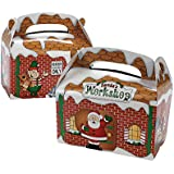 1 X Dozen Santa's Workshop Cardboard Treat Boxes