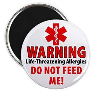 WARNING DO NOT FEED Medical Alert 2.25 inch Fridge Magnet from Creative Clam