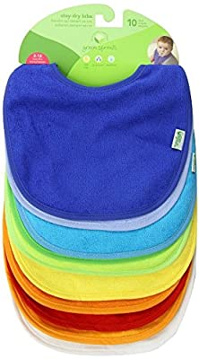 green sprouts 10 Pack Waterproof Absorbent Terry Bibs