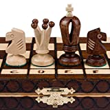 Image of Chess Set - Royal 30 European Wooden Handmade International Chess Set - 11-3/4