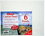 """Pre-primed Canvas Panels ~8x10"""" Boards ~Lot of 6"""