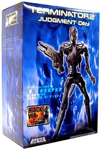 Aoshima Terminator 2: Judgement Day 1:6 Scale Model T-800 Endoskeleton [Silver Repaint Version]