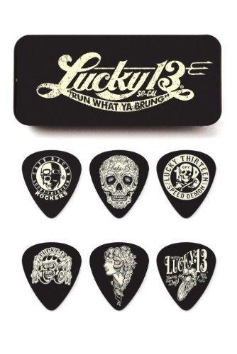 dunlop-l13ct73-lucky-13-pick-tin-assorted-73mm-6-picks-tin