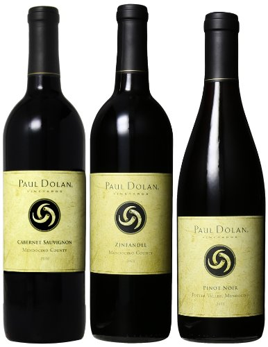 Paul Dolan Best Of Mendocino Organically Grown Reds (1St Edition), 3 X 750 Ml