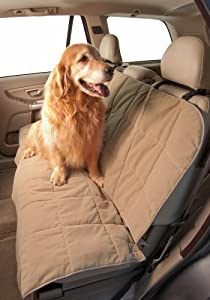 Duragear Rear Bench Car Seat Cover for Pets- Microvelvet (56W) Color Sand by DuraGear dog car seat covers