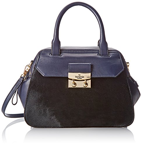 kate spade new york Alice Street Luxe Small Adriana Top Handle Bag,Starry Blue/Black,One Size