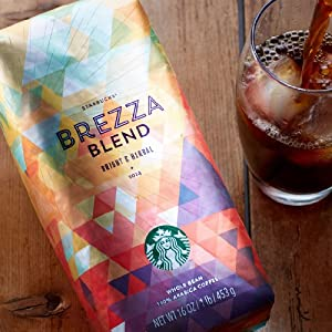Starbucks Brezza Blend Whole Bean Coffee - 1 Lb (16oz, 453g)